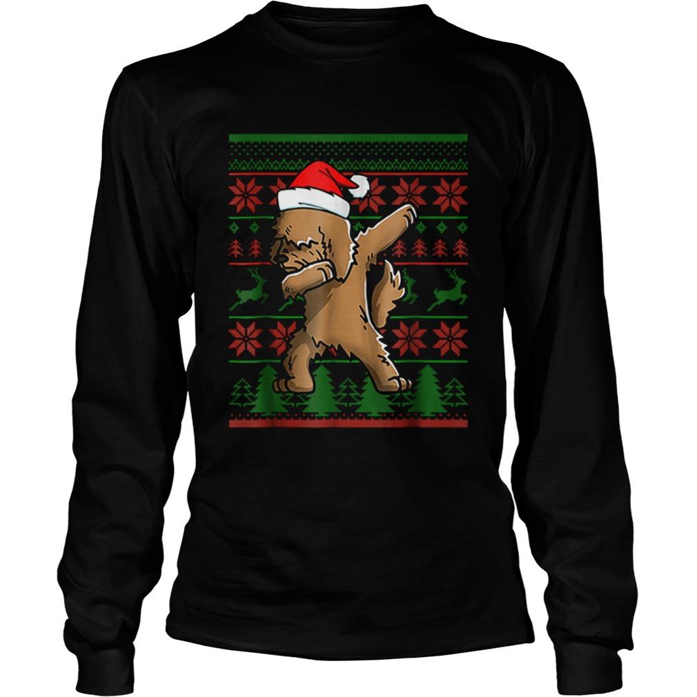 Goldendoodle Dabbing Xmas Santa Christmas  LongSleeve