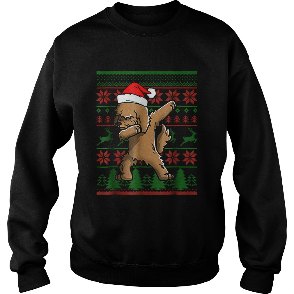 Goldendoodle Dabbing Xmas Santa Christmas  Sweatshirt