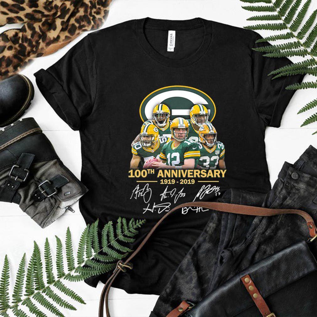 Green Bay Packers 100th anniversary 1919-2019 signatures shirt