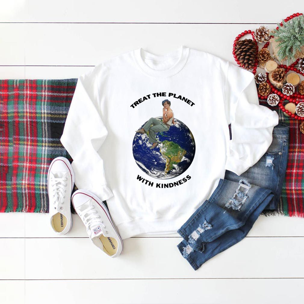 Harry Styles Treat The Planet With Kindness Earth shirt