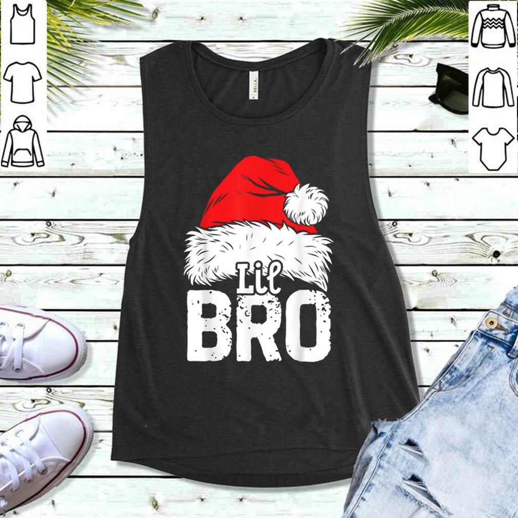 Hot Little Brother Christmas Santa Family Matching Tees shirt