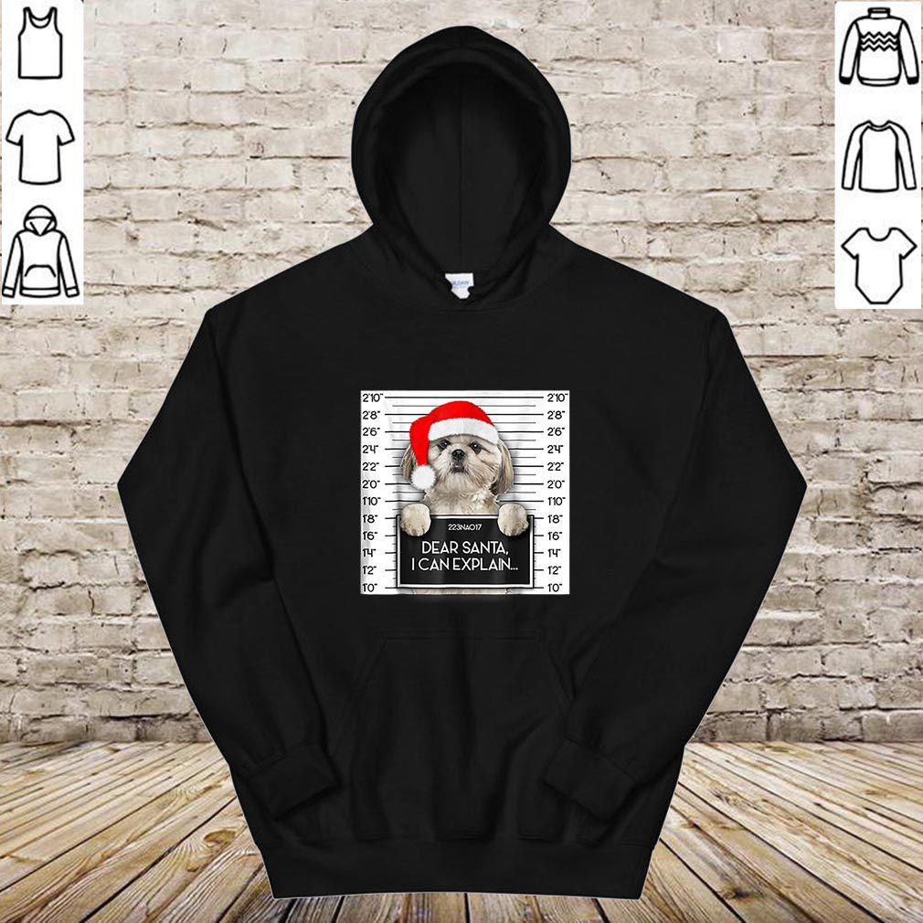 Hot Xmas Cute Shih Tzu Lover Santa Hat Dog Christmas shirt