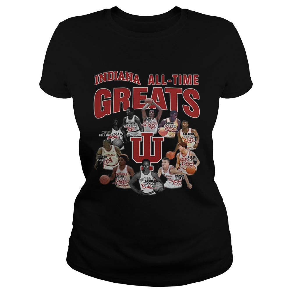 Indiana Hoosiers all time greats legend signatures  Classic Ladies