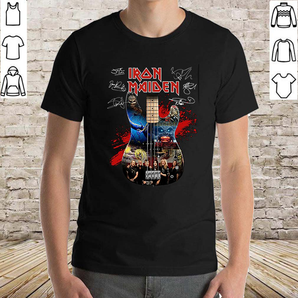 Iron Maiden all signature guitar shirt