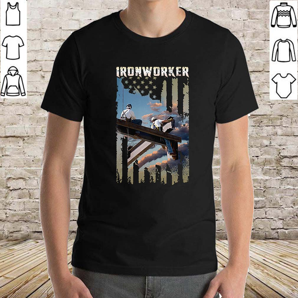 Ironworker American flag shirt