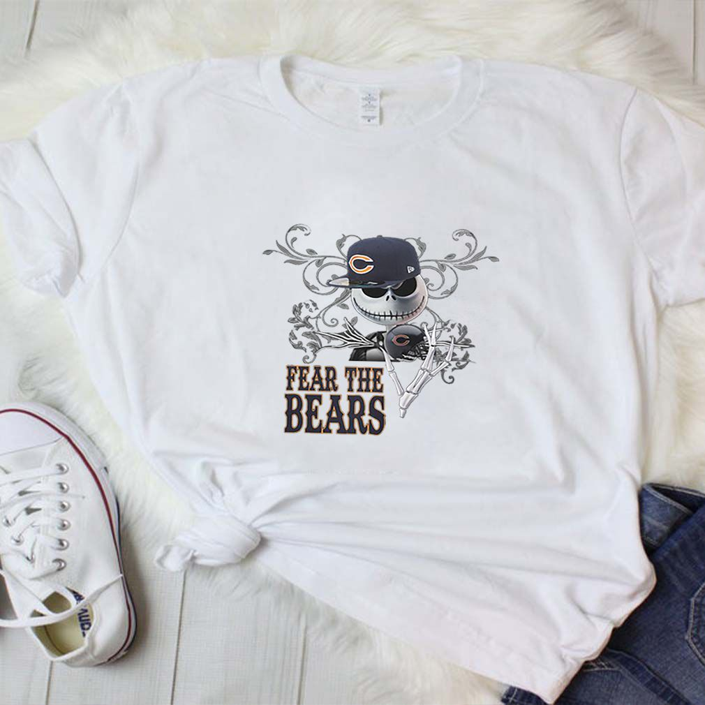 Jack Skellington fear the Chicago Bears shirt