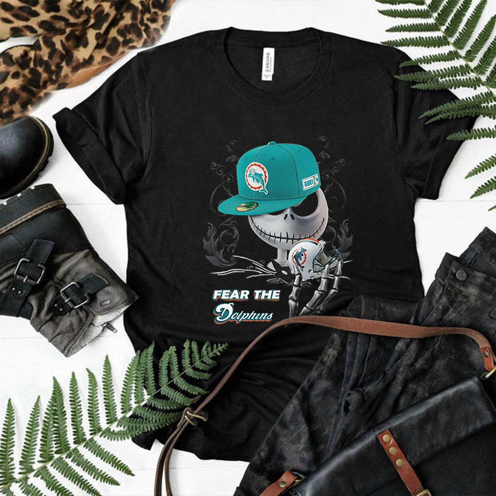 Jack Skellington fear the Miami Dolphins shirt