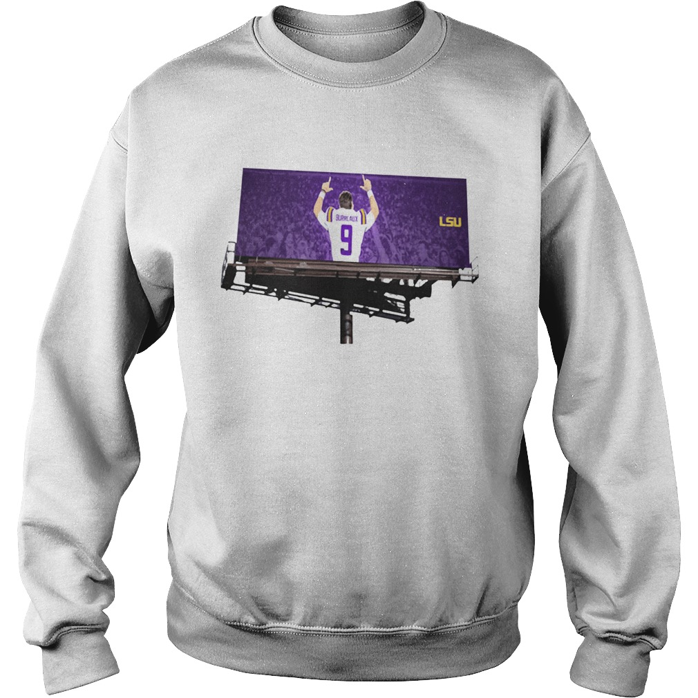 Joe Burreaux LSU Tigers football Offcial  Sweatshirt