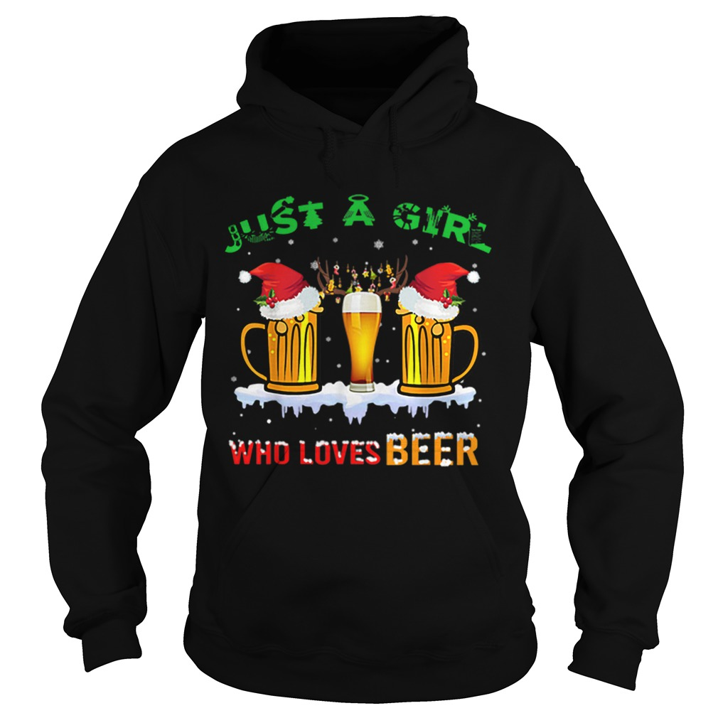 Just A Girl Who Loves Beer Christmas  Hoodie