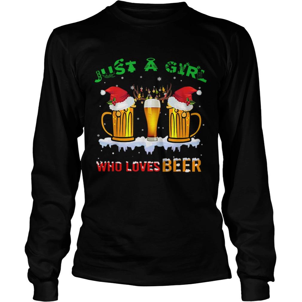 Just A Girl Who Loves Beer Christmas  LongSleeve