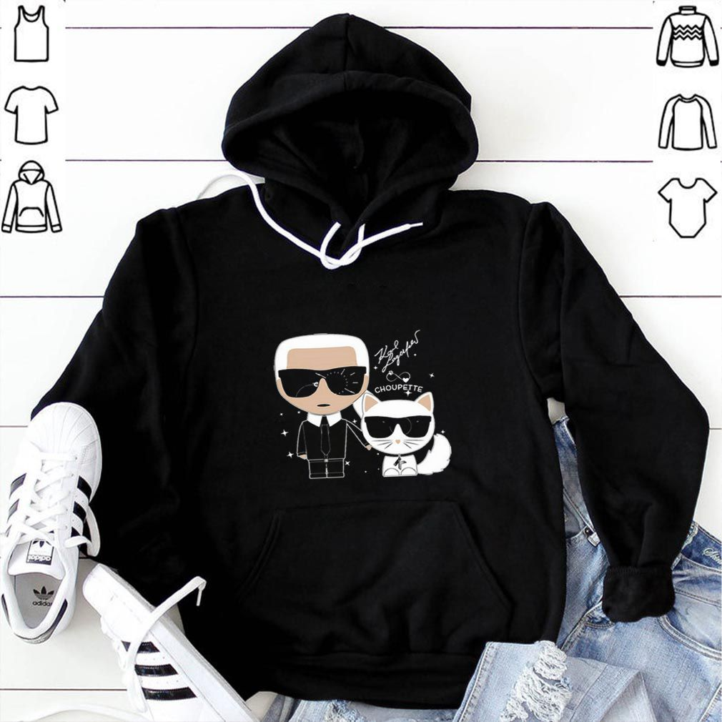 Karl Otto Lagerfeldt and Choupette Ikonik cat shirt