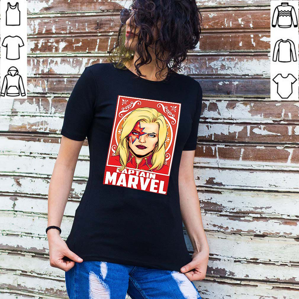 Kiss Captain Marvel Space Pose shirt