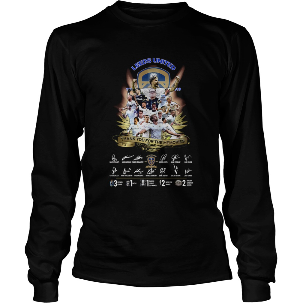 Leeds United Team Signatures Thank You For The Memories  LongSleeve