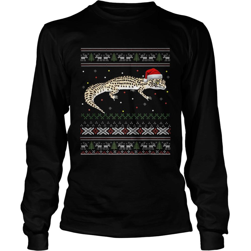 Leopard Gecko Ugly Christmas  LongSleeve