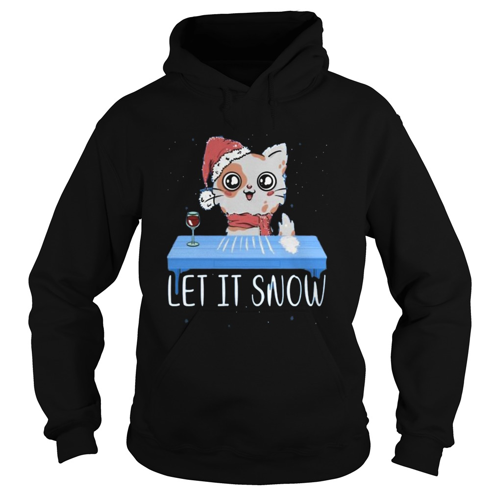 Let It Snow Santa Cocaine Cat Kitten  Hoodie