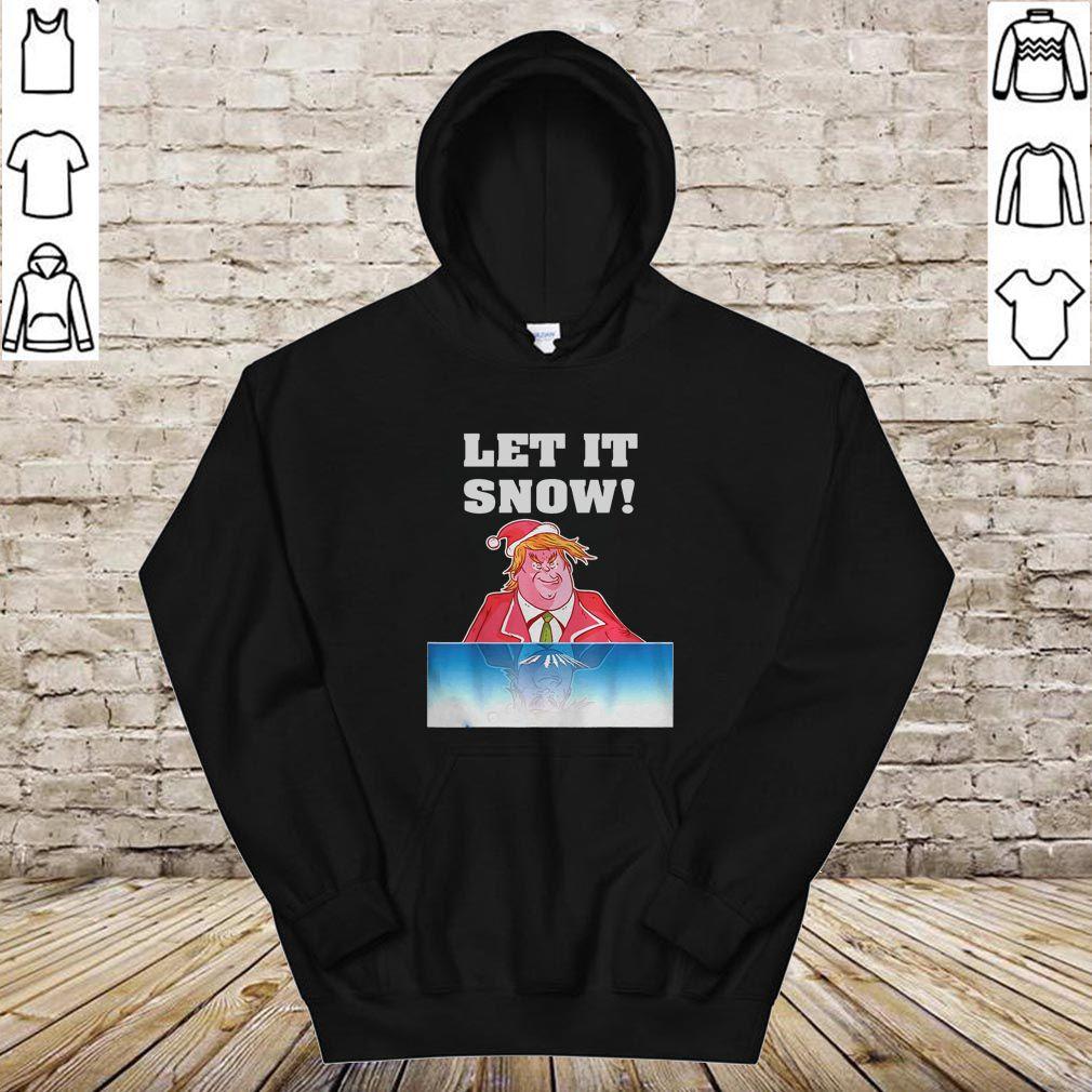 Let It Snow Trump Cocaine Santa Christmas Shirt