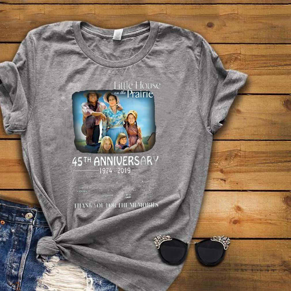 Little house on the Prairie 45th anniversary 1974-2019 signature shirt