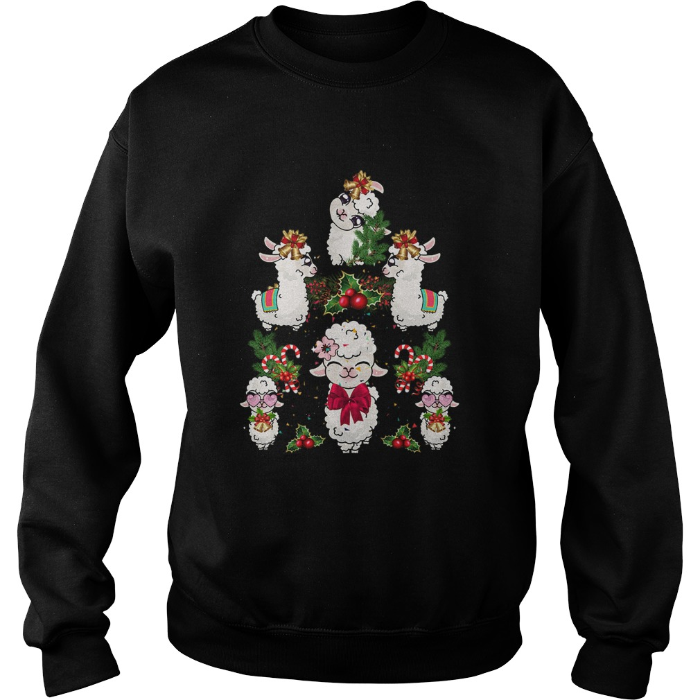 Llama Christmas Tree  Sweatshirt