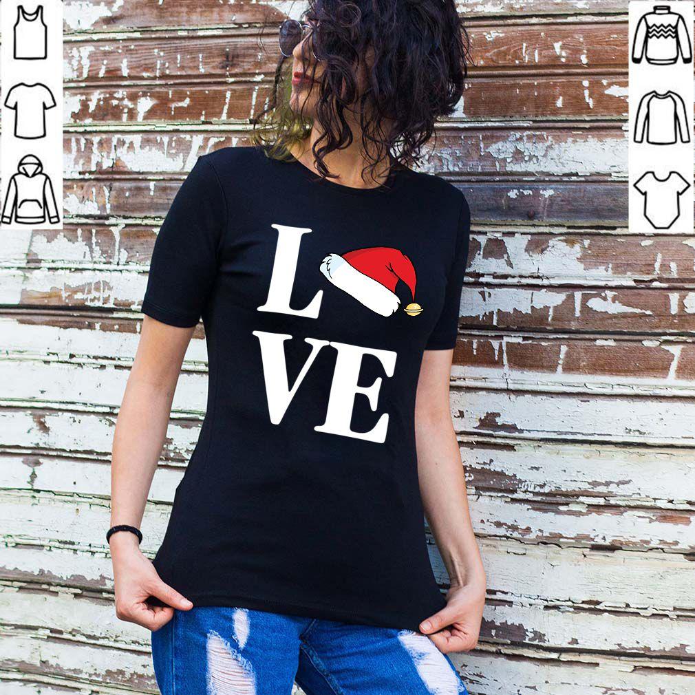 Love Christmas Santa Hat Xmas Love Favourite L O V E T Shirt
