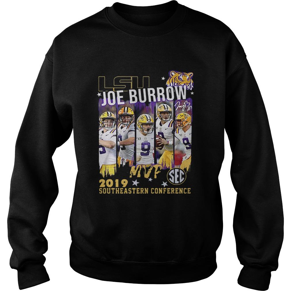 Lsu Joe Burrow MVp 2019 southeastern Conference  Sweatshirt