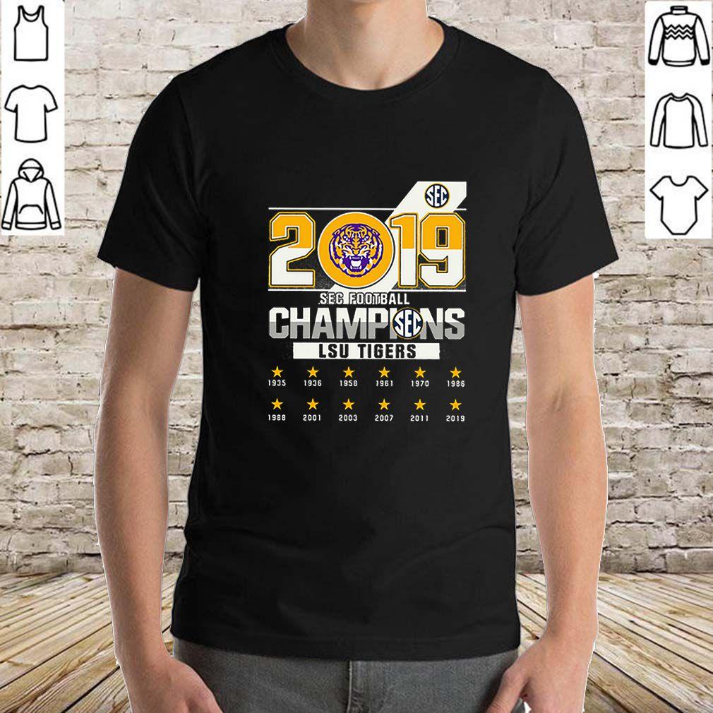 LSU Tigers 2019 SEC football big 12 Champions sweater
