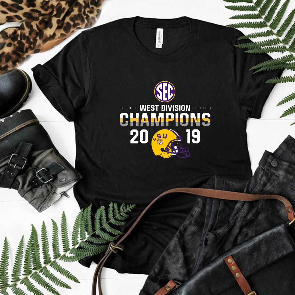 LSU Tigers 2019 SEC West Football Division Champions Tee Shirt
