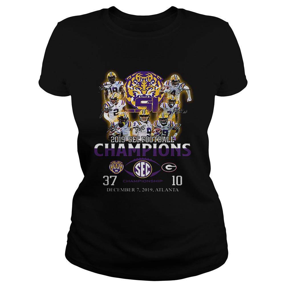 LSU Tigers signatures 2019 SEC Football Champions  Classic Ladies