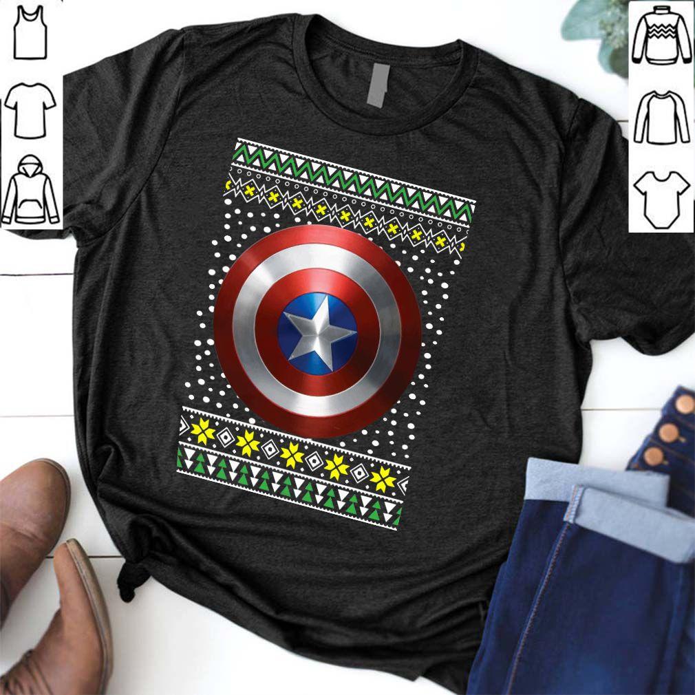Marvel Captain America Shield Ugly Christmas Shirt