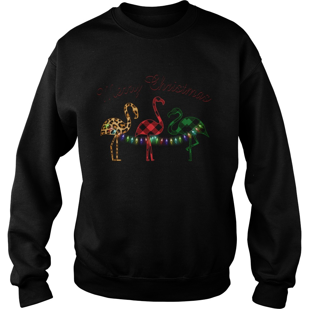 Merry Christmas Flamingo Lumberjack  Sweatshirt