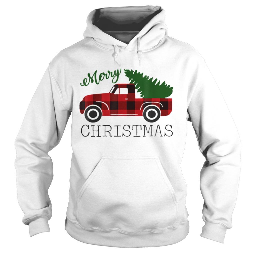 Merry Christmas Red Truck  Hoodie
