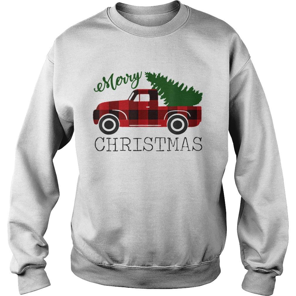 Merry Christmas Red Truck  Sweatshirt