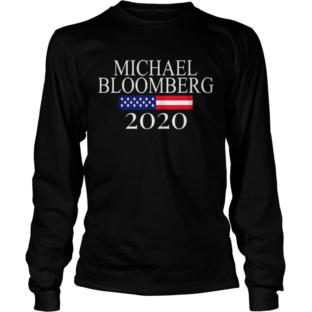 Michael Bloomberg US President 2020 American Flag  LongSleeve