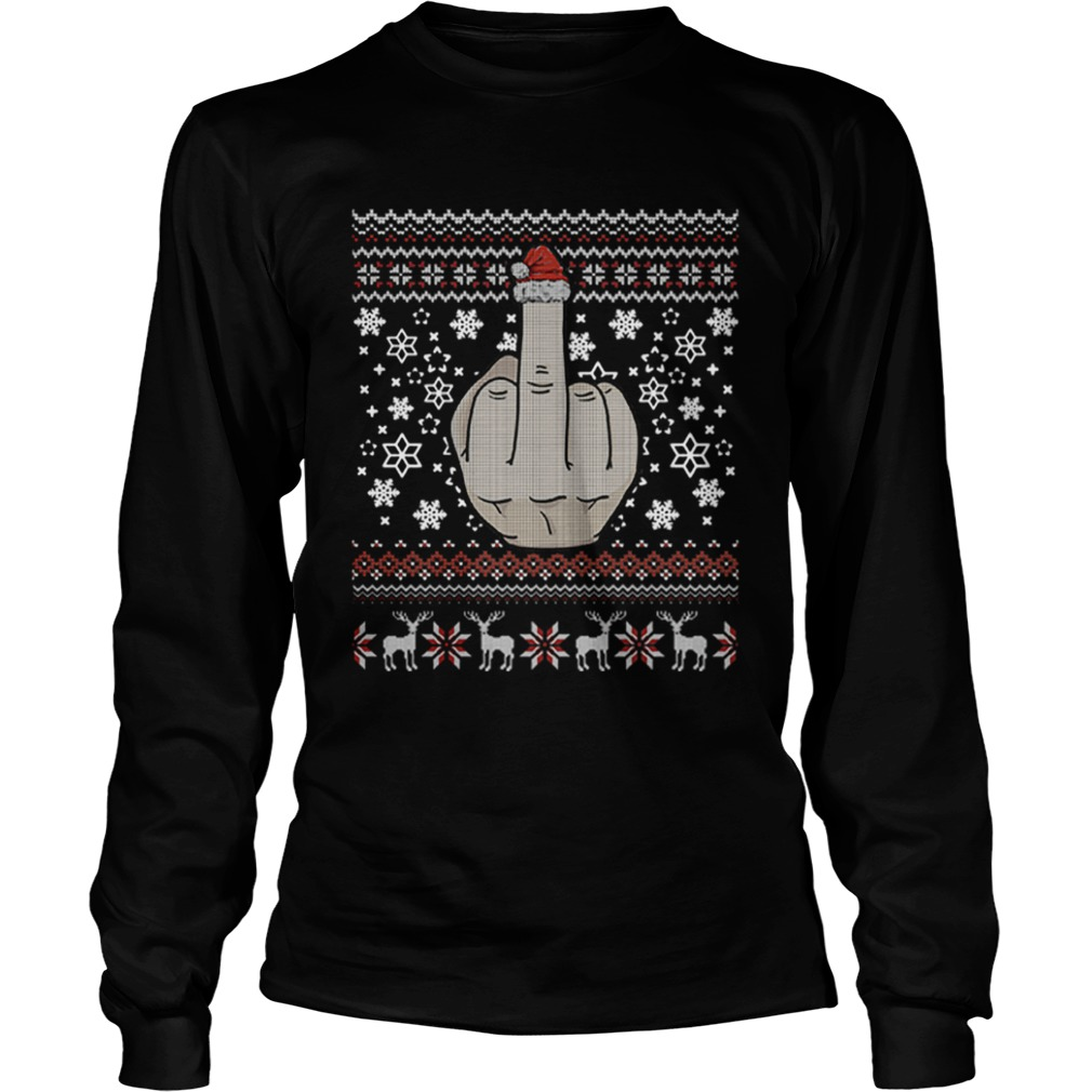 Middle Finger Jolly As Fuck Ugly Christmas  LongSleeve
