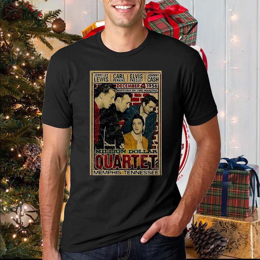 Million Dollar Quartet Memphis Tennessee Shirt