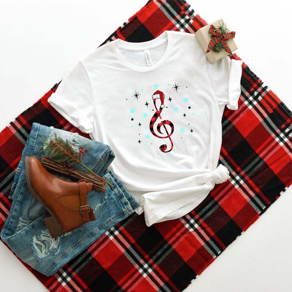 Musical Note Santa Hat T-