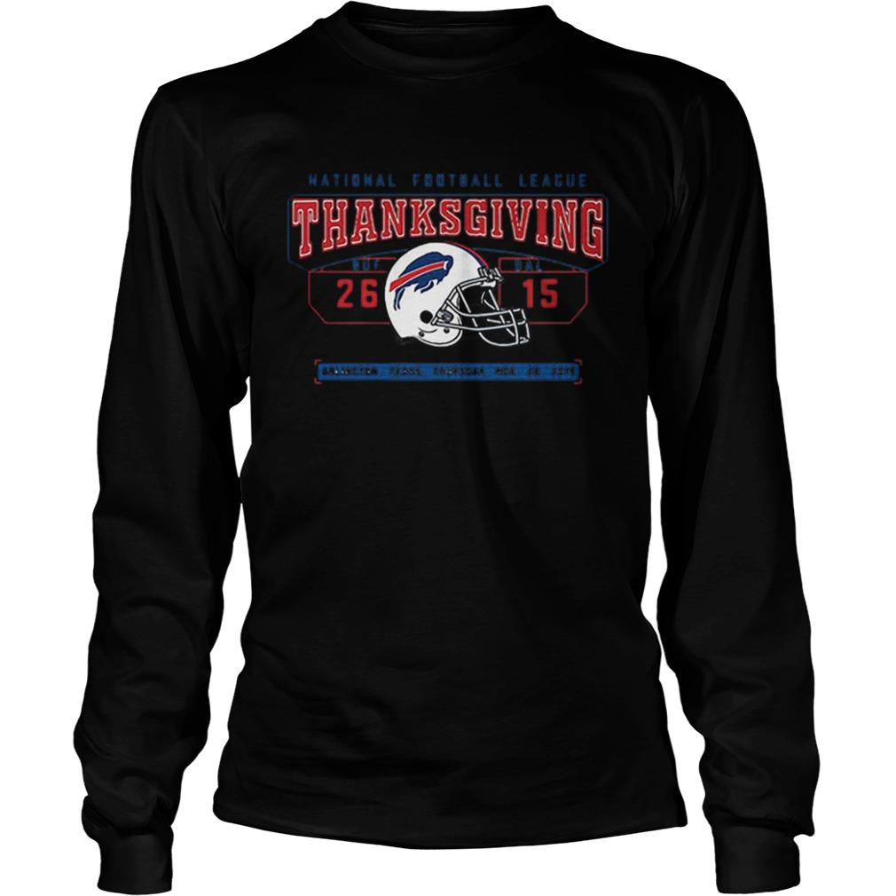 National Football League Thanksgiving Buf Dal 2615  LongSleeve