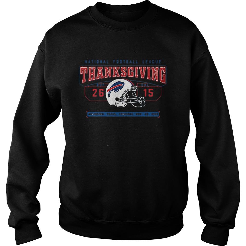National Football League Thanksgiving Buf Dal 2615  Sweatshirt