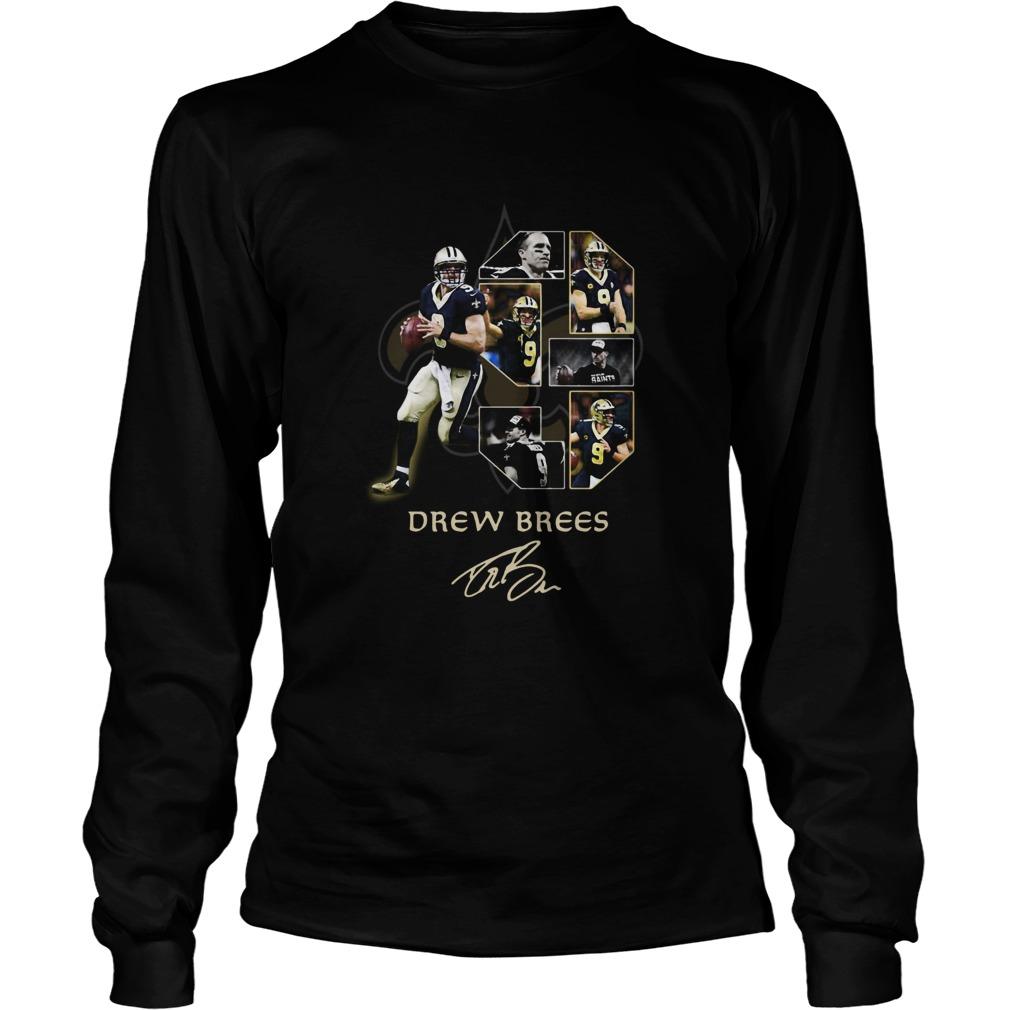New Orleans Saints Drew Brees Signature  LongSleeve