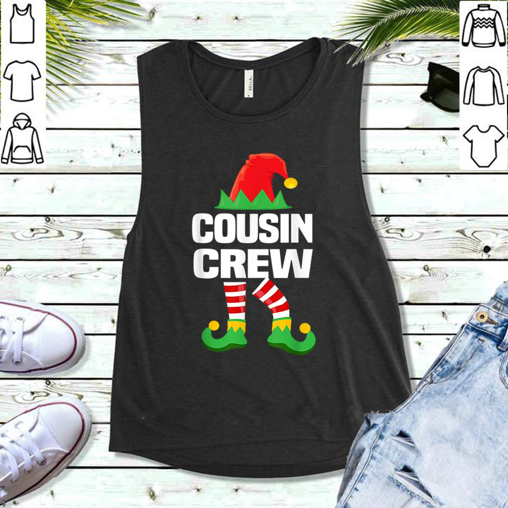 Nice Cousin Crew ELF Matching Christmas Family Gift Tee shirt