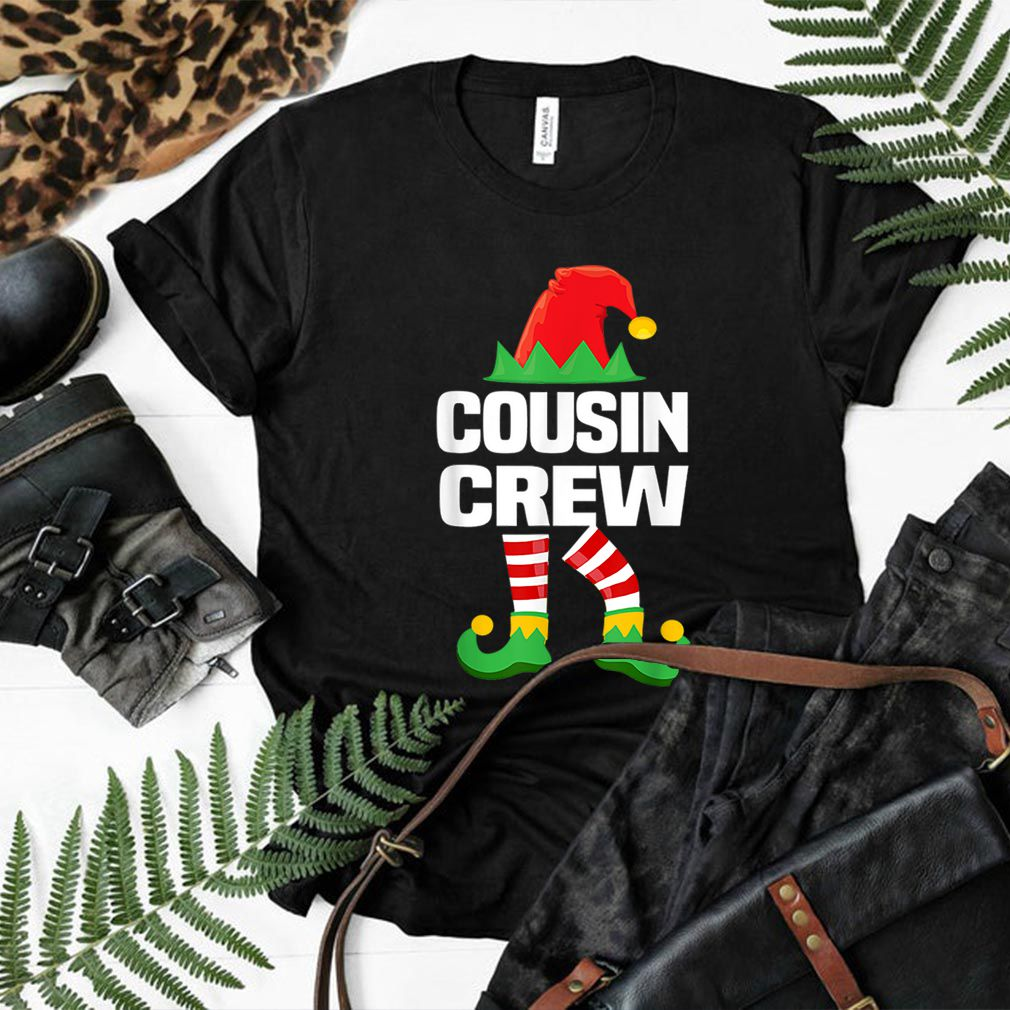Nice Cousin Crew ELF Matching Christmas Family Gift Tee shirt