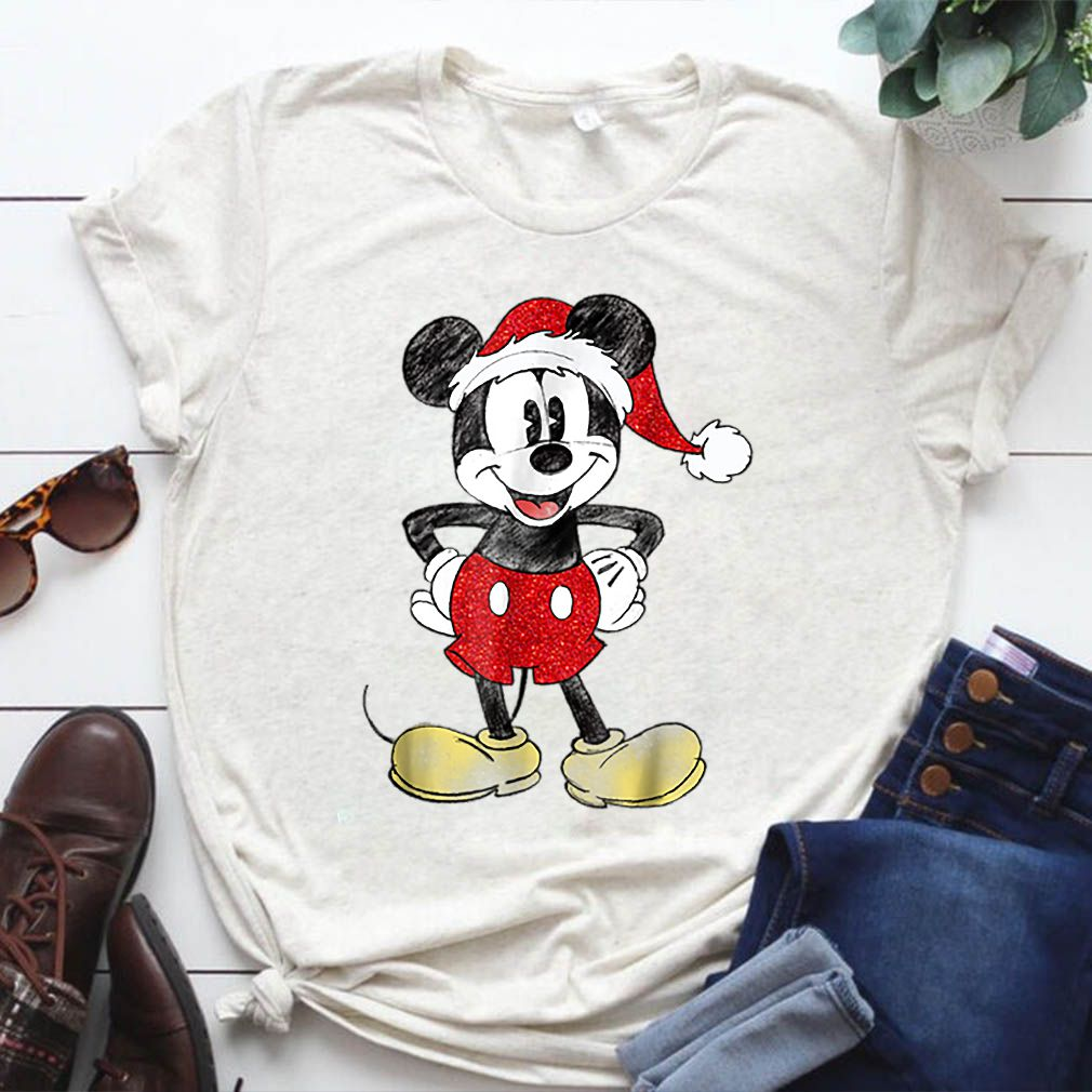 Official Disney Santa Mickey Mouse Christmas shirt