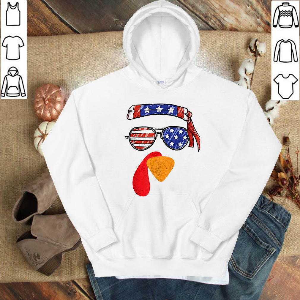 Official Funny Thanksgiving Fall Turkey Face USA Sunglasses Gift shirt