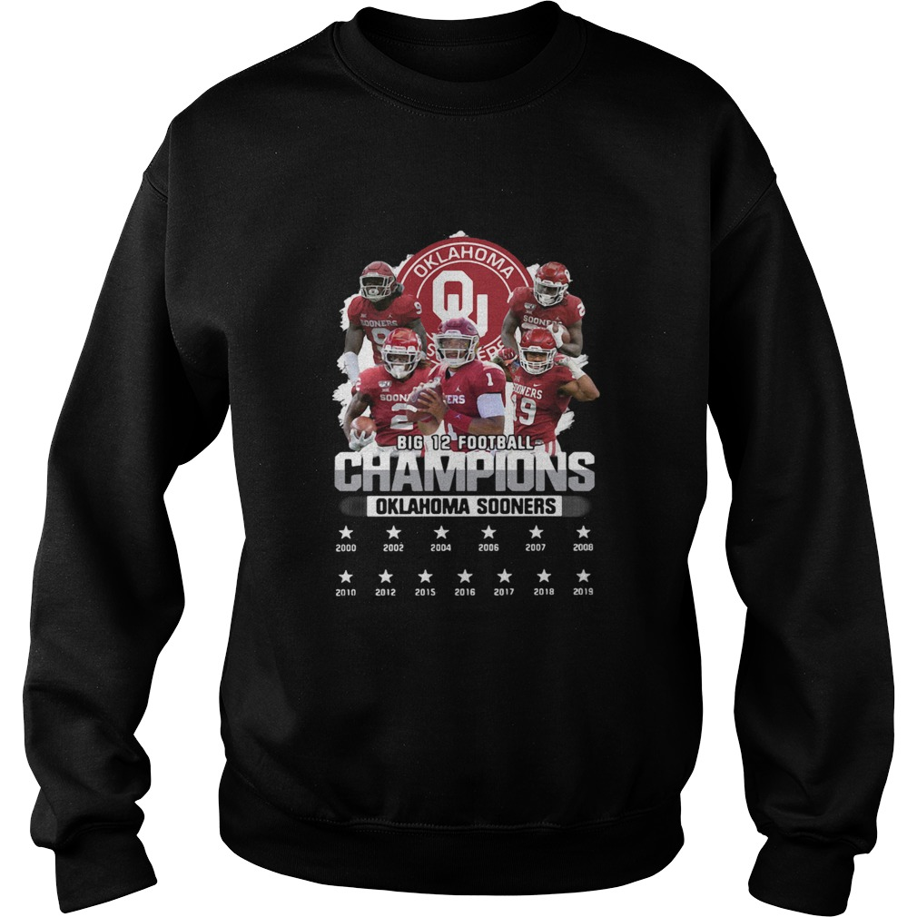 Oklahoma Sooners Big 12 Football Champions Player  Sweatshirt