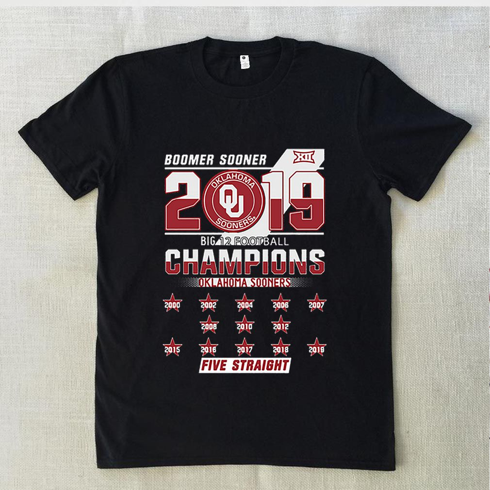 Oklahoma Sooners Boomer 2019 big 12 Champions Five Straight sweater