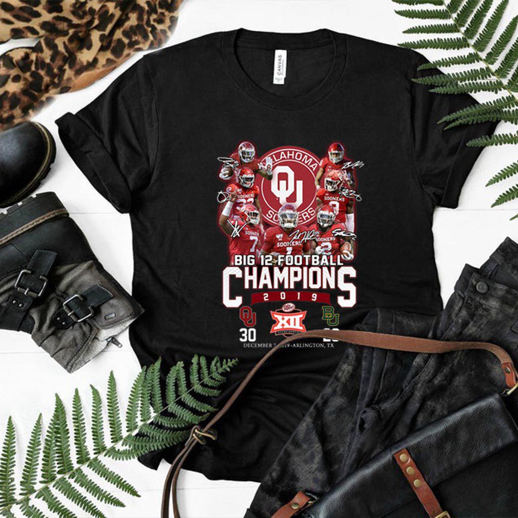 Oklahoma Sooners signatures Big 12 Football Champions 2019 shirt