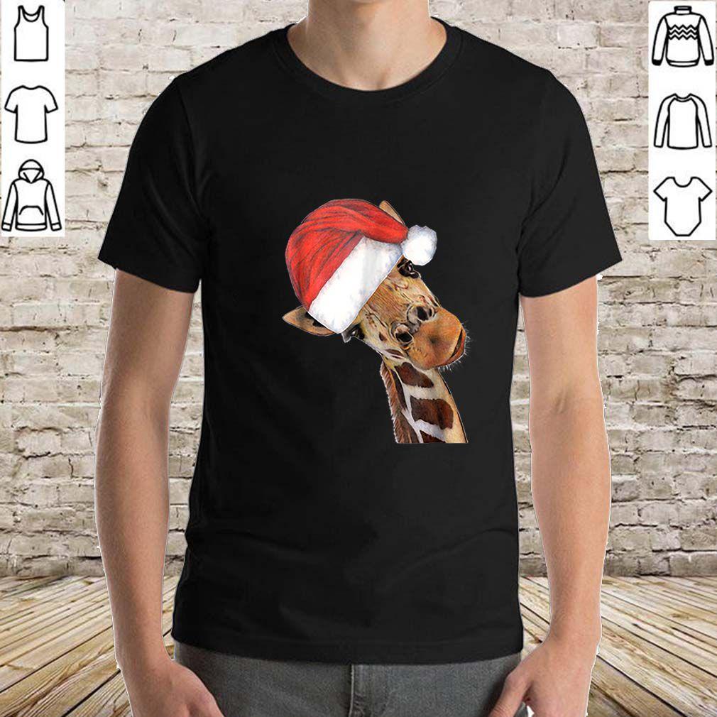 Original Good Time Giraffe In Santa Christmas Hat sweater