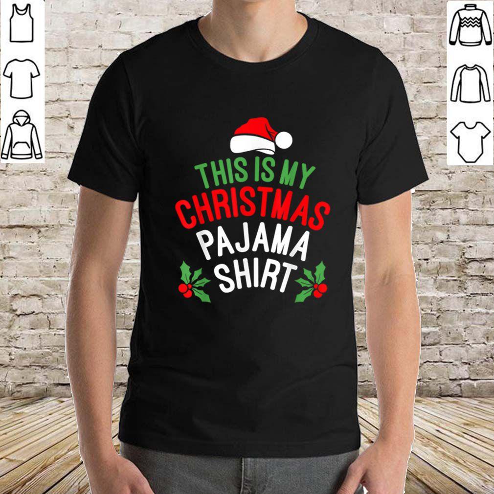 Original This is My Christmas Pajama Santa Hat Funny Xmas Gift sweater