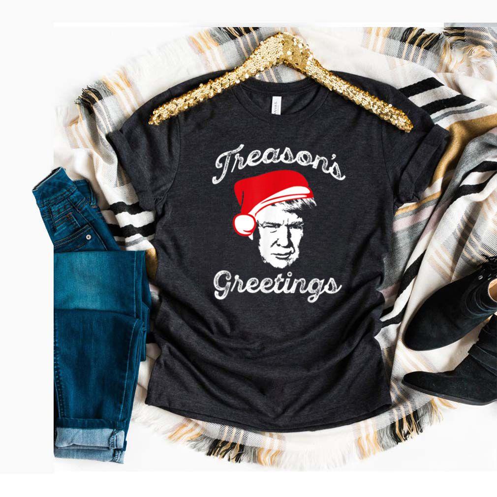 Original TREASON'S GREETINGS Funny Political Christmas Meme sweater