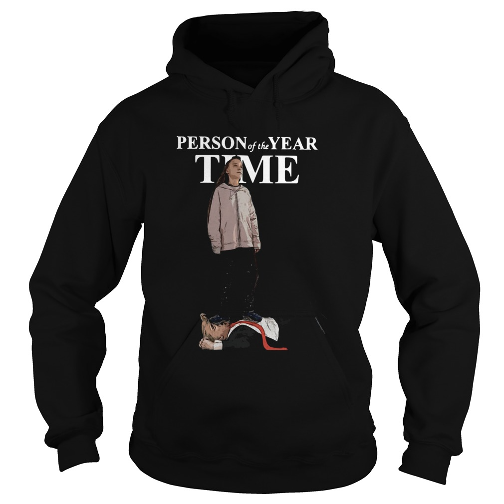 Person Of The Year Time Greta Thunberg And Donald Trump  Hoodie