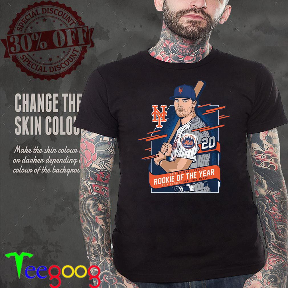 Pete Alonso New York Mets 2019 NL Rookie of the Year T-Shirt